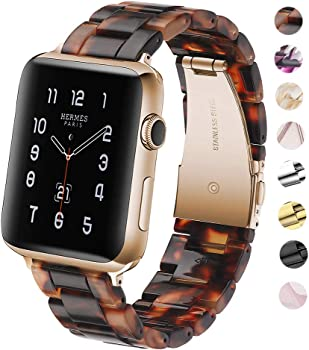 F-wheel Resin Watch Band for Apple Watch in Tortoise-Tone