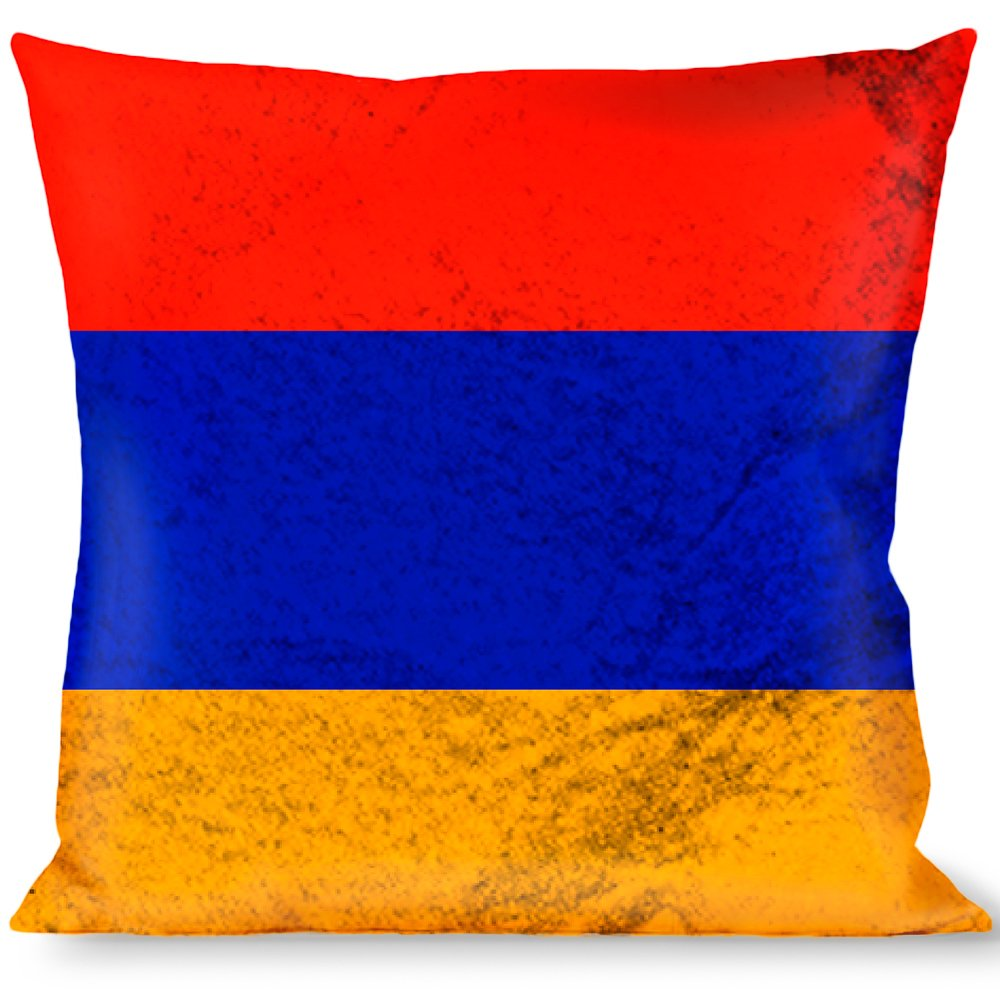 Buckle Down Armenia Flag Distressed Throw Pillow, Multicolor