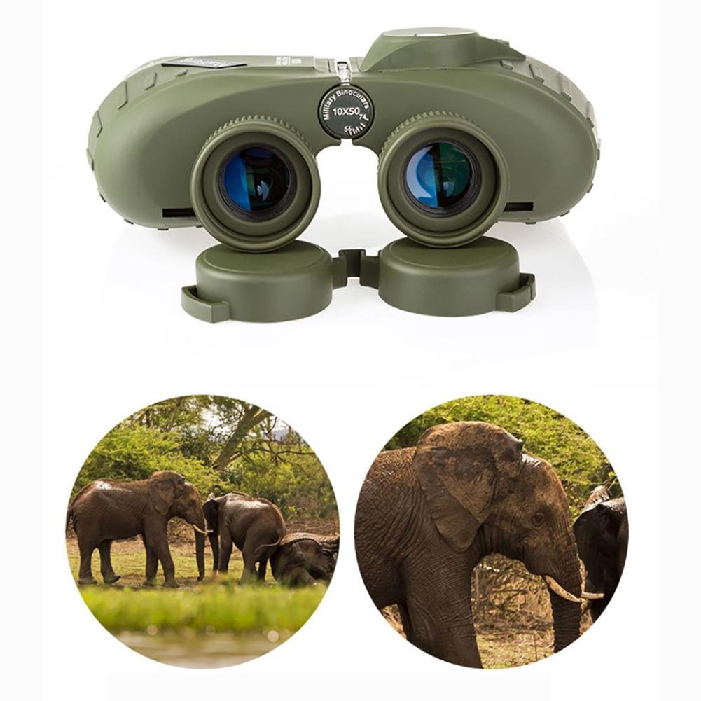MIAO Outdoor Adult Military Standard High - Definition High Power 10x50 Micro - Light Night Vision Ranging Binoculars with Compass Coordinates by miaomiao (Image #5)
