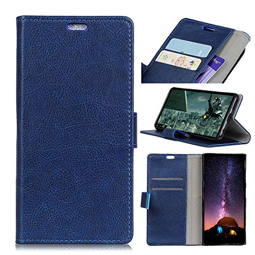 A920 Cell Phone Accessory - AICEDA Motorola Moto E5 Plus Wallet case, Motorola Moto E5 Plus Flip case, Classy Slim Leather Wallet, ID Credit Card Slot Holder for Motorola Moto E5 Plus - Blue