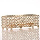 VINCIGANT Gold Crystal Tealight Candle Holder Tray for Father's Day Coffee Table Decorative Centerpieces, Holiday House Decor Gifts Review