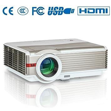 Proyector LCD Digital HD de 5000 lúmenes 1280x800 Compatible ...