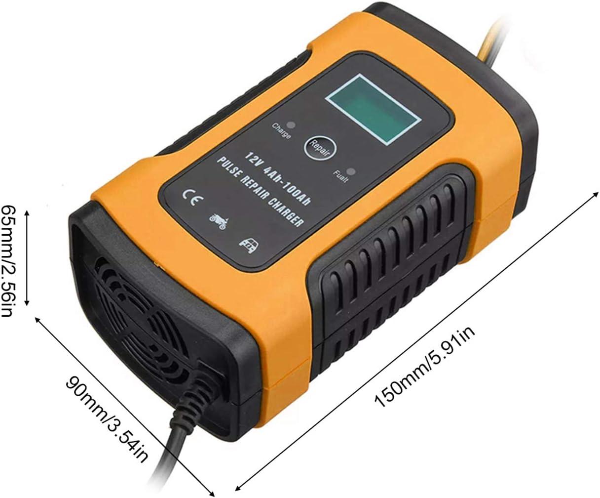 Kecheer 12V 6A Cargador de bater/ía para autom/óvil completamente autom/ático Carga inteligente de energ/ía r/ápida Cargador de reparaci/ón de pulso Cargadores de bater/ía de plomo seco y h/úmedo Cargador de
