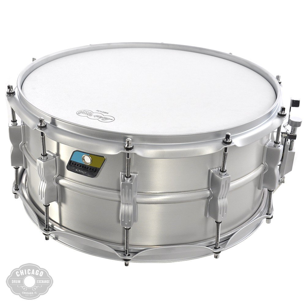 Ludwig Acrolite Classic Aluminum Snare Drum Matte Finish 6.5x14 by Ludwig