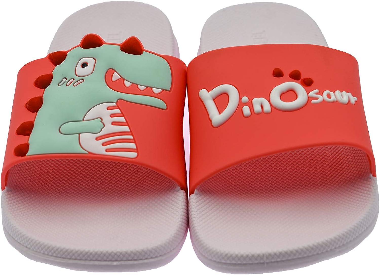ChayChax Zapatillas de Ba/ño para Ni/ños Ligero Ba/ñarse Chanclas de Casa Suave Zapatos de Playa y Piscina para Ni/ña Ni/ño,Rosa Rojo,31//32 EU