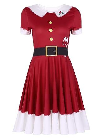 MSemis Disfraz de Duende para Mujer Chica Vestido Navideño ...