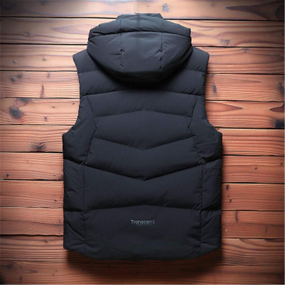 Mens Winter Padded Vest Coats Sleeveless Jacket