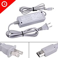 Luniquz AC Power Charging Adapter for Nintendo Wii U Gamepad Remote Controller Charger Cable Cord