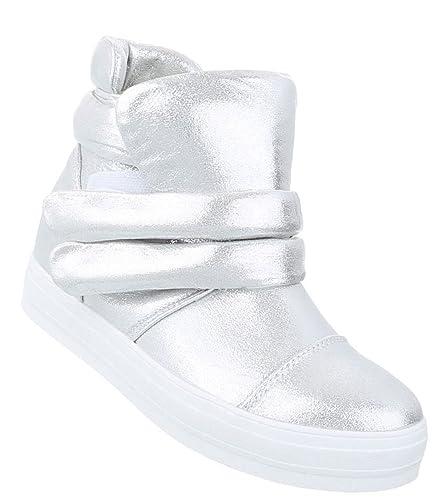 Damen Klettverschluss Elegante Sneaker Sneakers Schuhcity24 ZxTwqgw