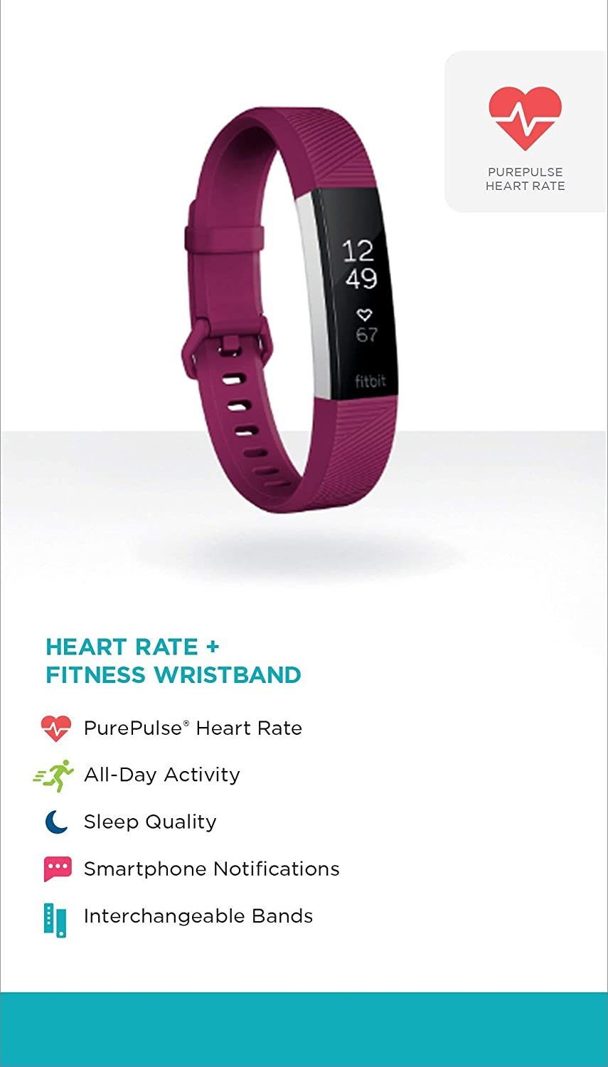 Amazon.com: Fitbit Alta HR, Fuchsia, Large (US Version) (Certified Refurbished): Health & Personal Care