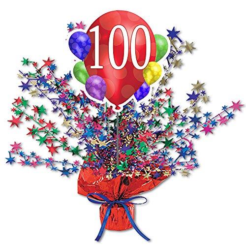 100TH Balloon Blast Centerpiece by