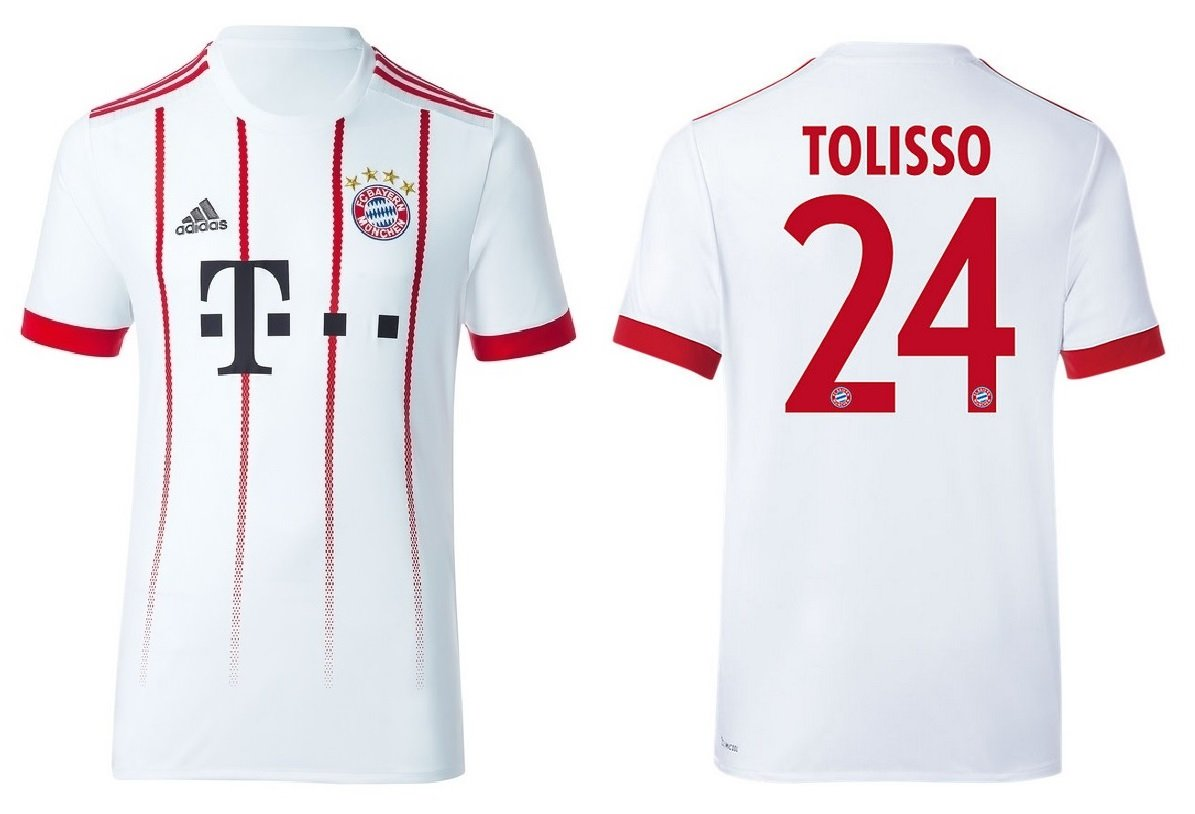 Trikot Kinder FC Bayern 2017-2018 Third - Tolisso 24