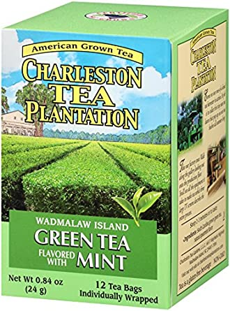 Amazon.com : American Classic Pyramid Teabags, Island Green Mint, 12 Count,  0.84 Oz : Grocery & Gourmet Food
