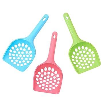 Wa Pala de limpieza para arena de gato o gato, incluye pala de limpieza para mascotas (agujero pequeño): Amazon.es: Productos para mascotas