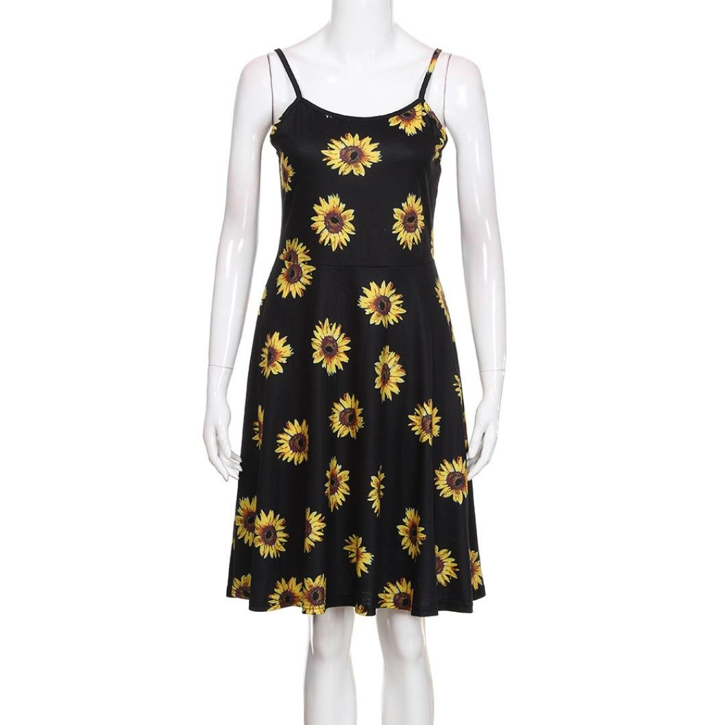 4c061829465d3 iHPH7 Dress, Womens Sleeveless Adjustable Strappy Floral Printed ...