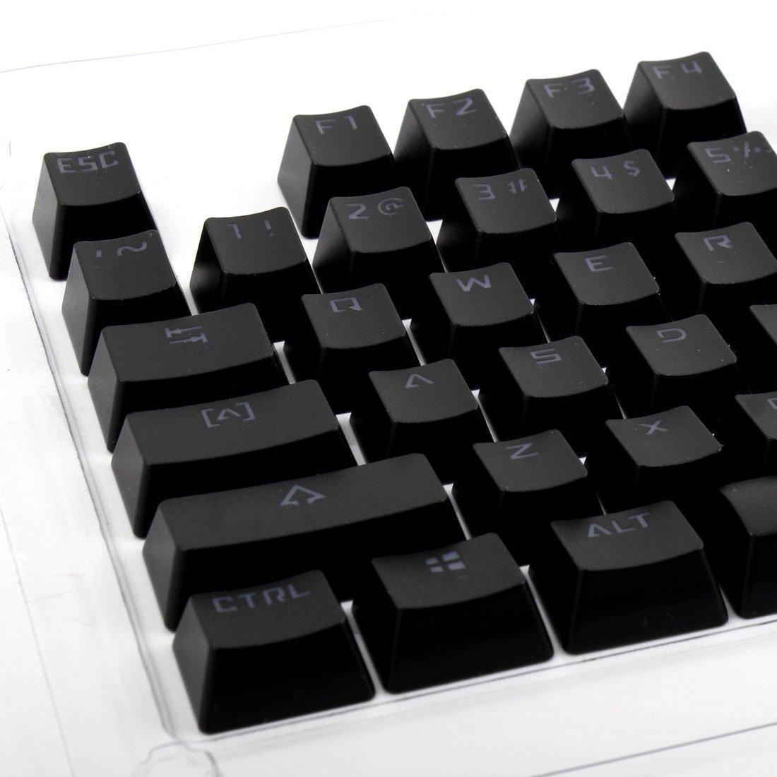 Amazon.com: DealMux PBT KeyCaps Capa protetora Preto 104 em 1 para mecânicos Gaming Teclados: Electronics