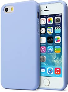 MUNDULEA Matte Case Compatible iPhone 5/iPhone 5s/iPhone SE (2016 Edition),Shockproof TPU Ptotective Cover Compatible iPhone 5s (Sky Blue)