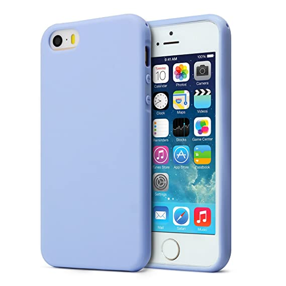 new product ab0b3 3fdb1 MUNDULEA Matte Case Compatible iPhone 5s/SE/5,Shockproof TPU Ptotective  Cover Compatible iPhone SE 5S (Sky Blue)