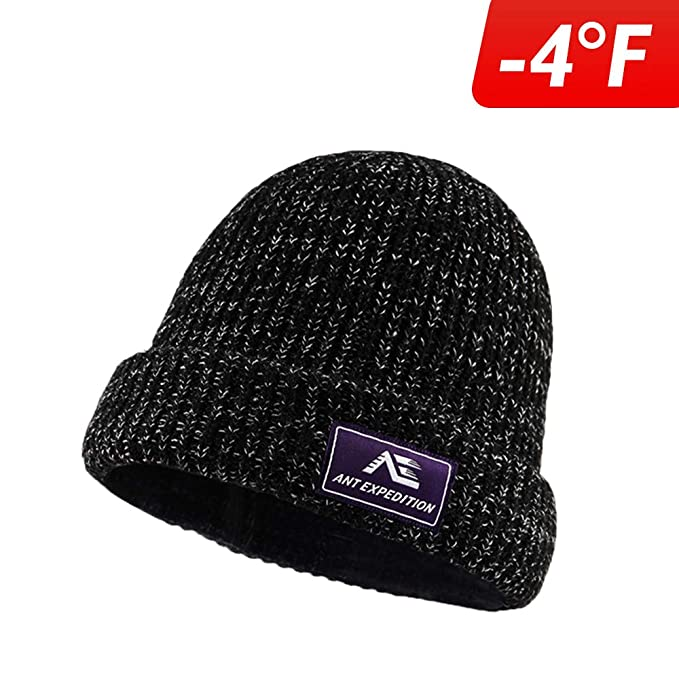 09eeda06855c2 ANT EXPEDITION Winter Kint Hat Wool Watch Cap Fur Skull Beanie Cold Weather  Warm Hats for
