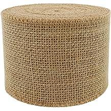 3 Inches Wide Burlap Ribbons Natural Jute Fabric Rustic Ribbon Roll For Favor Decoration DIY Handmade Craft Arts 10 Yards