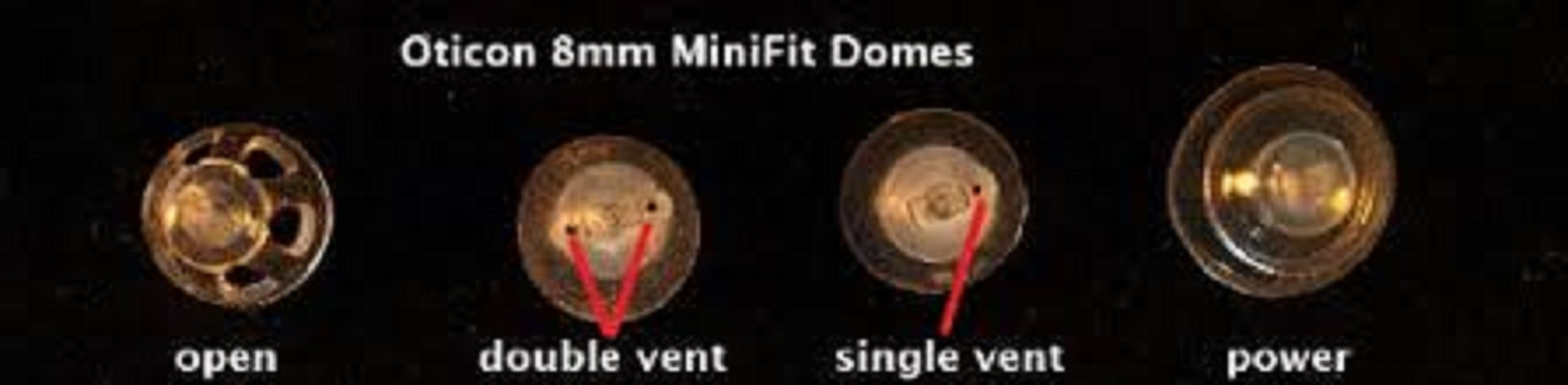 Oticon Replacement Domes for MiniRite Hearing Aids (8mm Power)