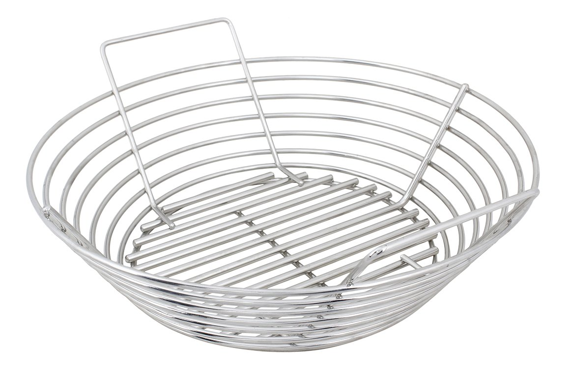 Kick Ash Basket Stainless Steel Basket for Kamado Joe Classic and Other Grills, 15 Inch Total Diameter