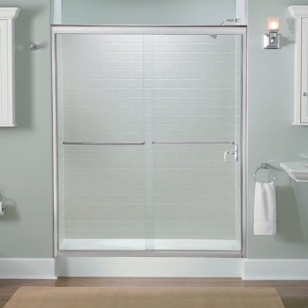 Shower Door kohler levity shower door installation photos : Kohler K-702206-L-SHP Fluence 56-5/8-to-59-5/8-Inch by 70-5/16 ...