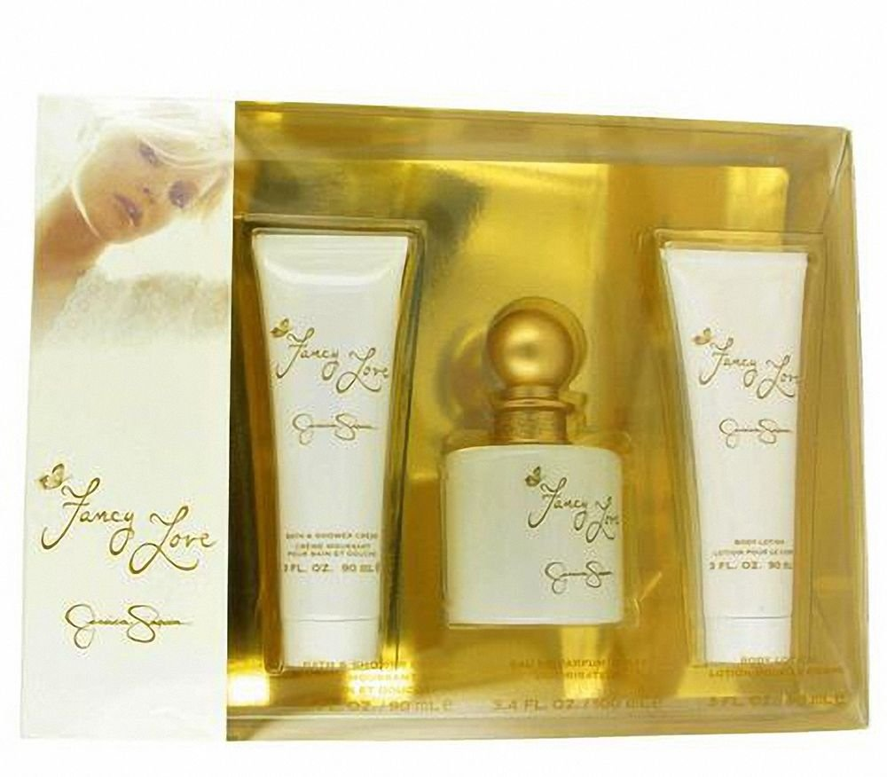 Jessica Simpson Fancy Love for Women-3 Pc Gift Set 3.4-Ounce EDP Spray, 3-Ounce Bath and Shower Creme, 3-Ounce Body Lotion 608940544822