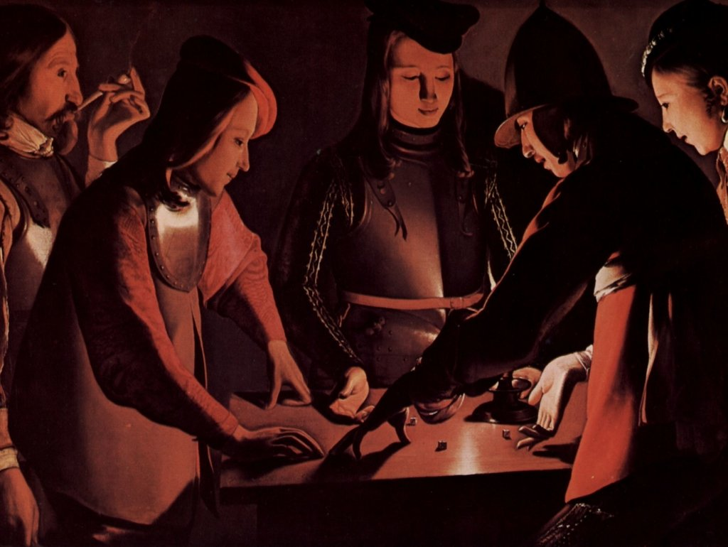 Lais Puzzle Georges de La Tour - Die Würfelspieler 2000 Teile