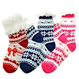 Angelina Womens One Size Winter-weight Sherpa-lined Knitted Thermal Crew Socks, #1911_R_NBR_3_9-11