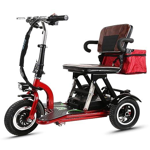 Joyfitness Triciclo eléctrico Scooter Vehículo portátil ...