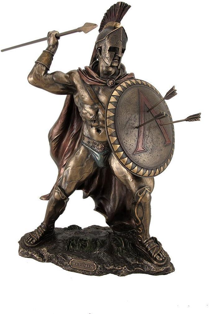 """12.75"""" Leonidas Greek Warrior King Statue Sculpture Figurine Spartan Decor"""