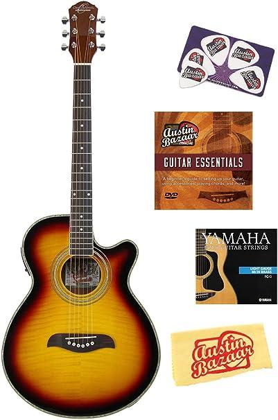 Oscar Schmidt og10ce guitarra Cutaway Guitarra Electroacústica de ...