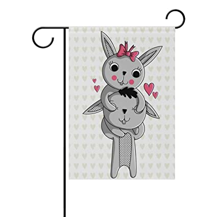 Amazon com : ClustersN Cute Character Rabbit Double-Sided
