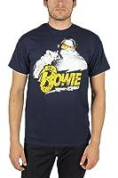 David Bowie - Herren Blitz Foto-T-Shirt In Navy