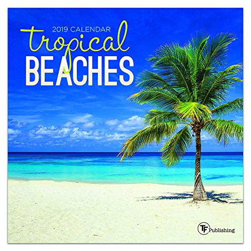 Paradise Calendar - 2019 Tropical Beaches Mini Calendar