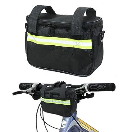 Amazon Com Meanhoo Bike Handlebar Bags Cycling Baskets Bicycle