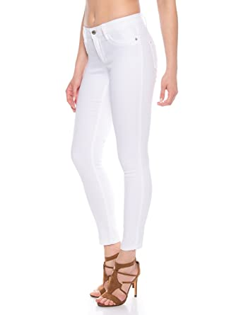 ONLY Damen Skinny Jeans Hose mit Stretch in weiß Regulare Leibhöhe  Amazon.de   Bekleidung 95938e2644