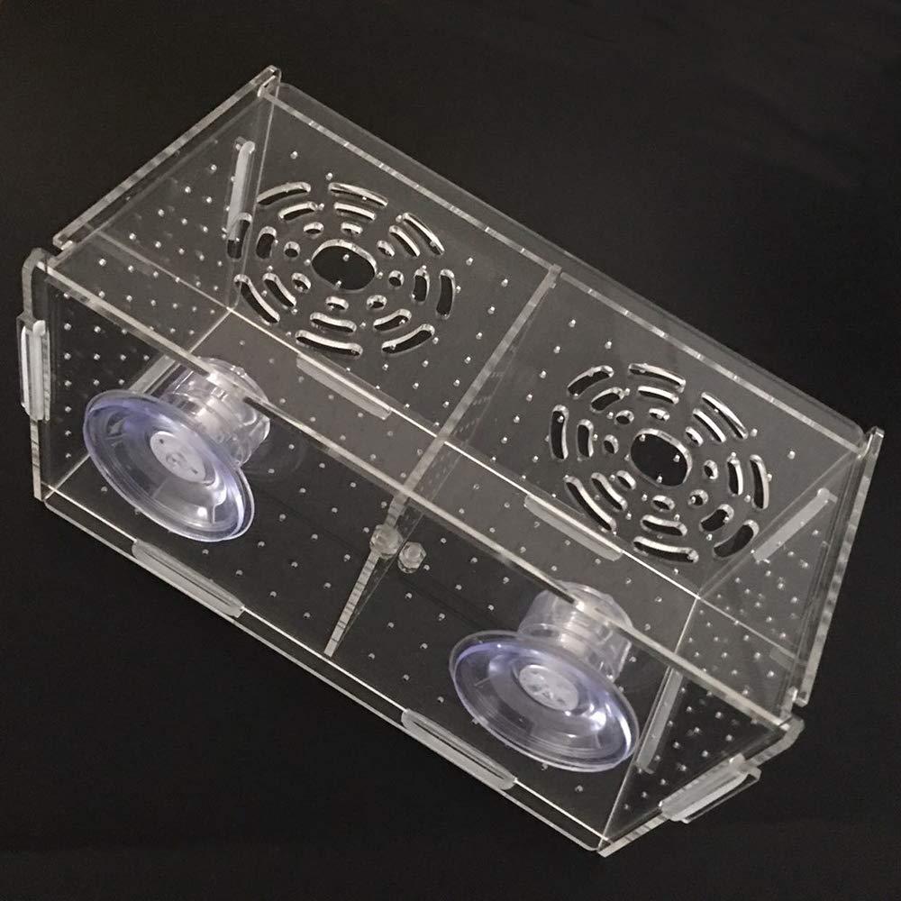 PIVBY Fish Breeder Box Fish Tank Isolation Divider Acrylic Aquarium Hatching Incubator for Fishes Shrimp Clownfish Guppy