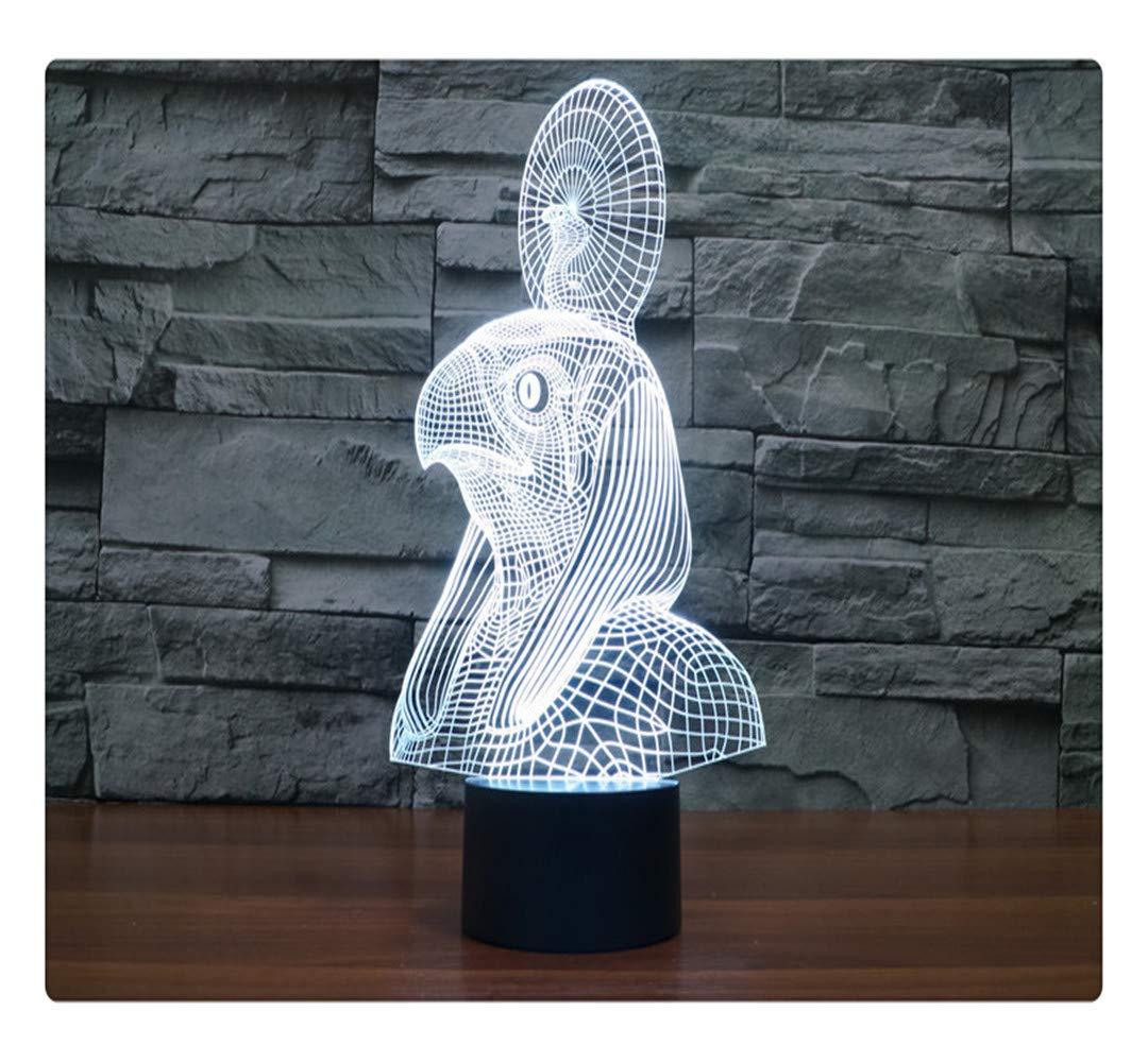 La Serpiente De Acrílico 3D Llevó La Luz De La La La Noche Con La Lámpara De Mesa Del Usb De Lamparas 3D Llevó, Tacto Remoto d40aa9