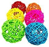 Bonka Bird Toys Vine ball Large Bird Parrot Toy Part craft parrot cage toys cages natural pet (Pack 24)