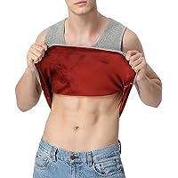 HIENAJ Men's Fleece Lined Undershirt Tank Top Winter Warm Sleeveless Thick Thermal Vest
