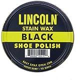 Lincoln Stain Wax Shoe Polish, 3 Fluid Ounces, Black