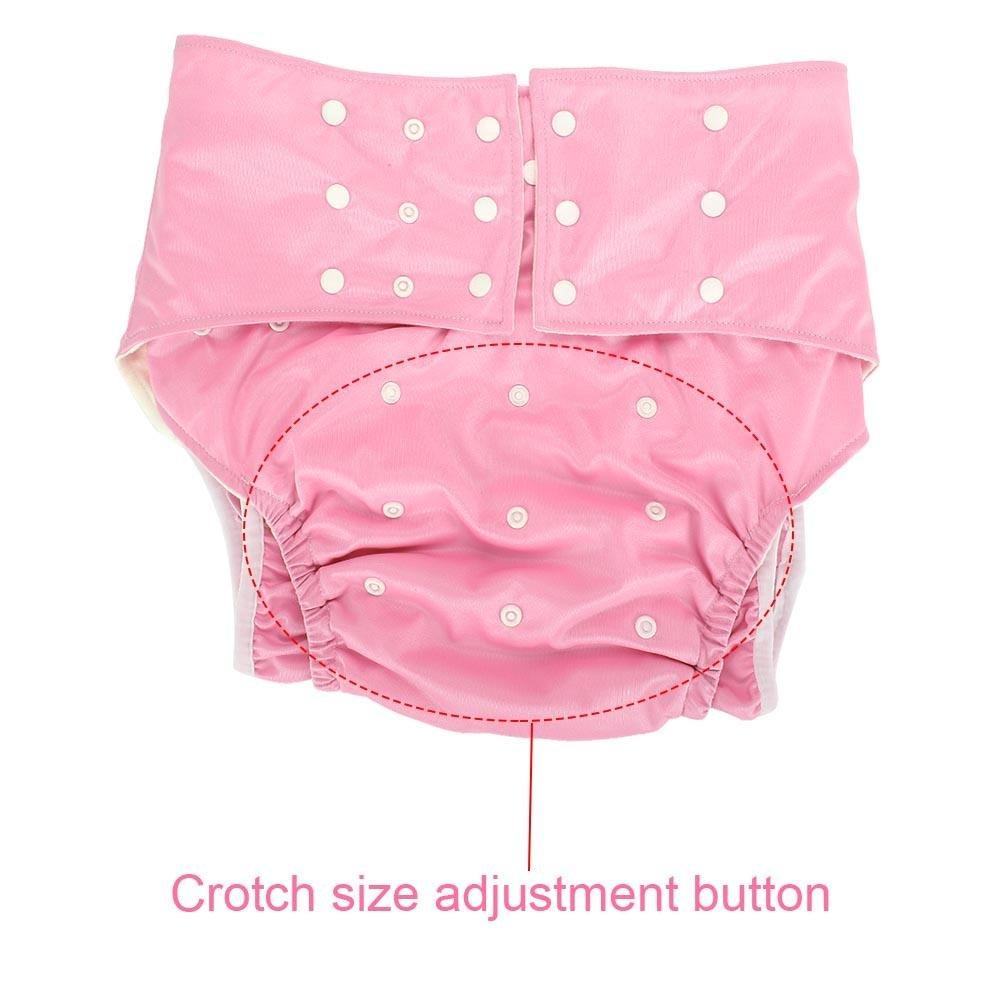 adapt/é aux Hommes Femmes Teen Rose Yotown Lavable Adulte Pocket Nappy Cover Tissu de Couche-Culotte r/éutilisable Ajustable Soins de lincontinence sous-v/êtements de Protection