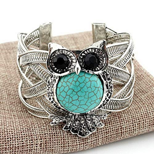 (Monowi Wholesale Fashion Women Turquoise Cuff Charm Bangle Bracelet Earrings Jewelry | Model ERRNGS - 18446 |)