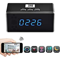 Pannovo 720p WiFi Security Camera Alarm Clock