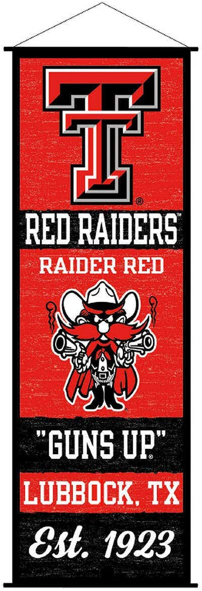 Texas Tech Red Raiders Banner and Scroll Sign