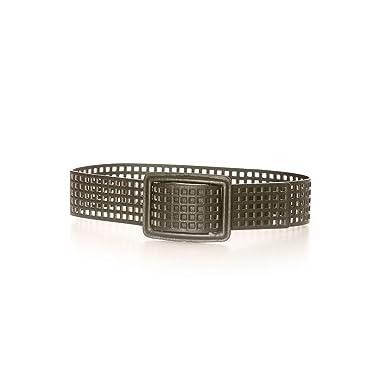 Miss Wear Line - Ceinture noire à grosse boucle quadrillée, à trous ... 11f7b6addb9