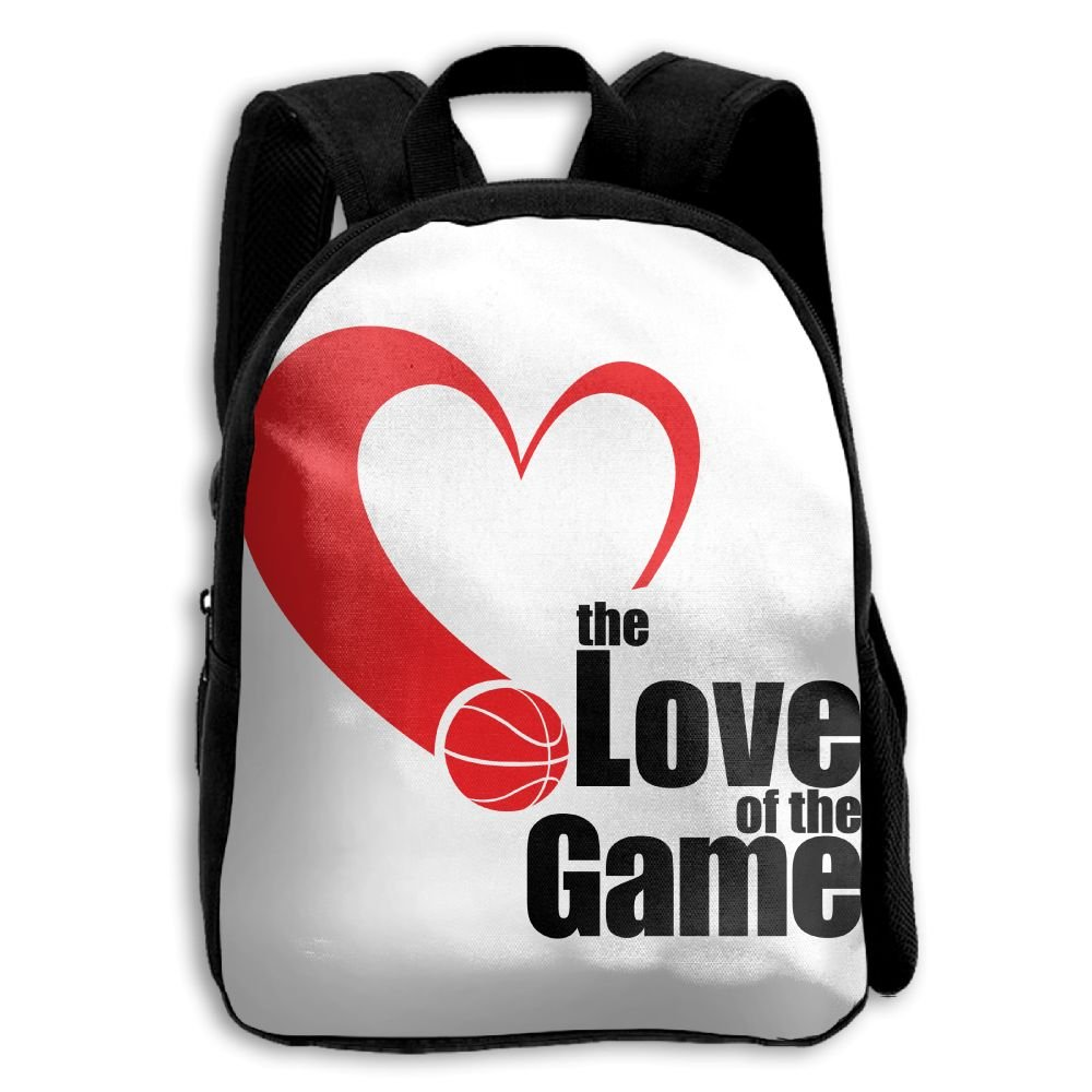 Kids School Bag Double Shoulder Print Backpacks Love Of The Game Travel Gear Daypack Gift by LAUR