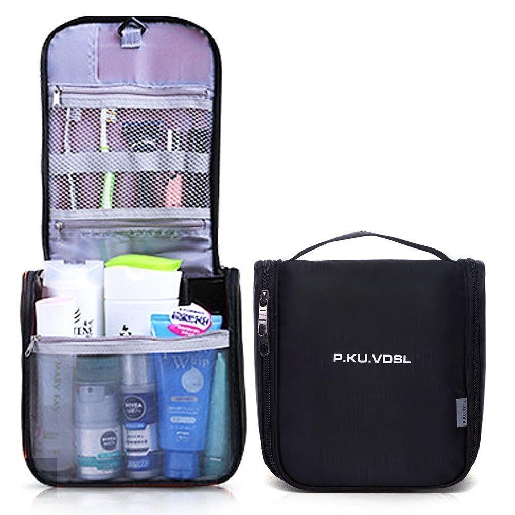 P.KU.VDSL Appendere Borsa da Toilette Beauty Case da Viaggio Trucco di Caso Cosmetico Portatile Pratica Borsa Viaggi Outdoor Organizzatore Viaggi Kit Viaggio (Cielo blu) XSB04